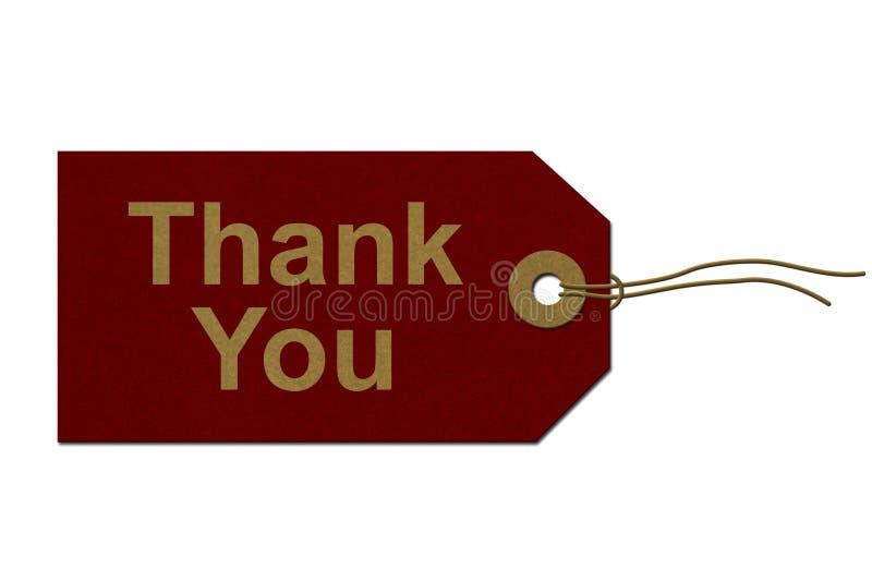 Gracias etiqueta del regalo fotografía de archivo libre de regalías
