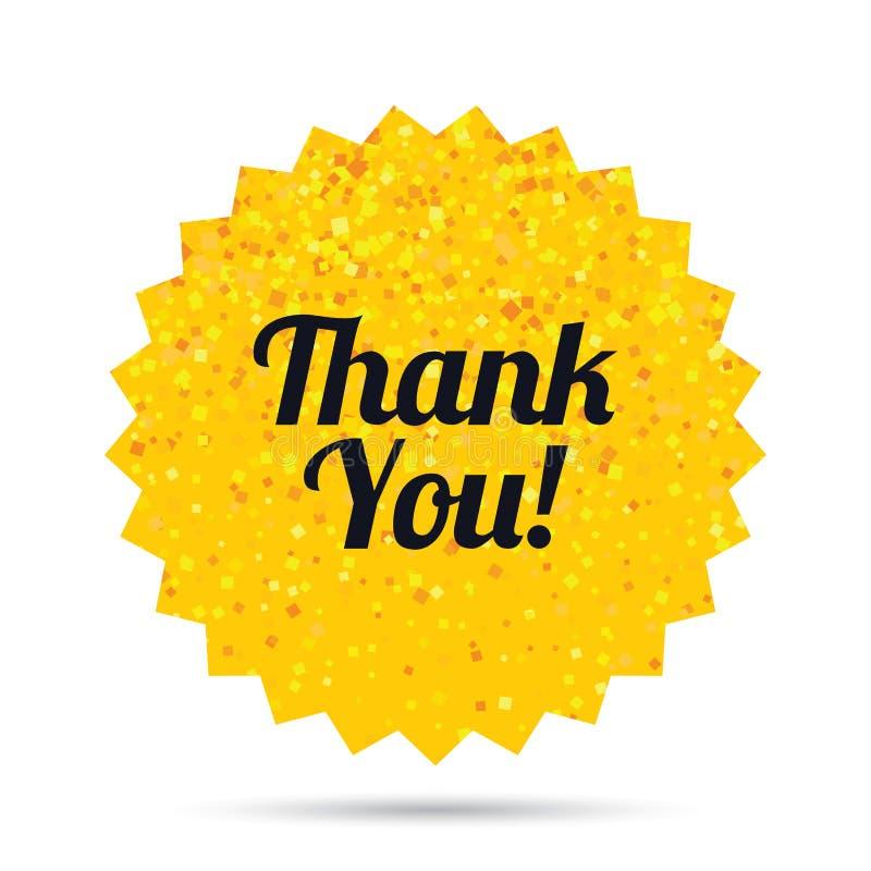 Gracias firmar el icono Símbolo del servicio de atención al cliente stock de ilustración