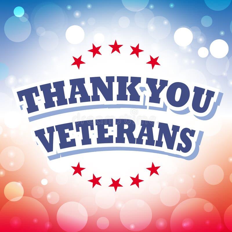 Gracias los veteranos ilustración del vector