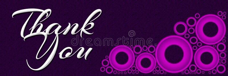 Gracias Ring Banner rosado ilustración del vector