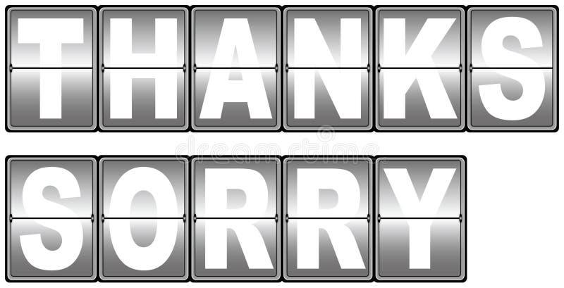 Gracias y marcador triste imágenes de archivo libres de regalías