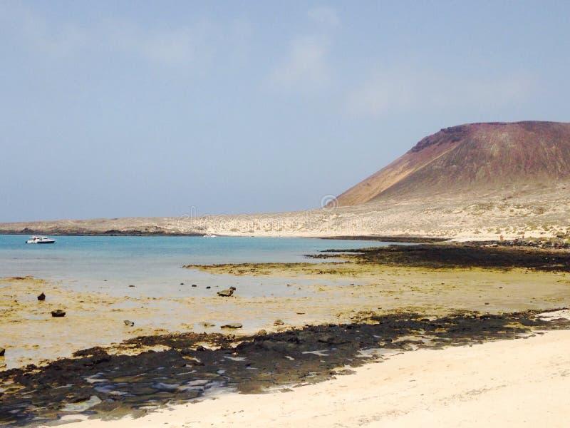 graciosa beach volcano stock photos