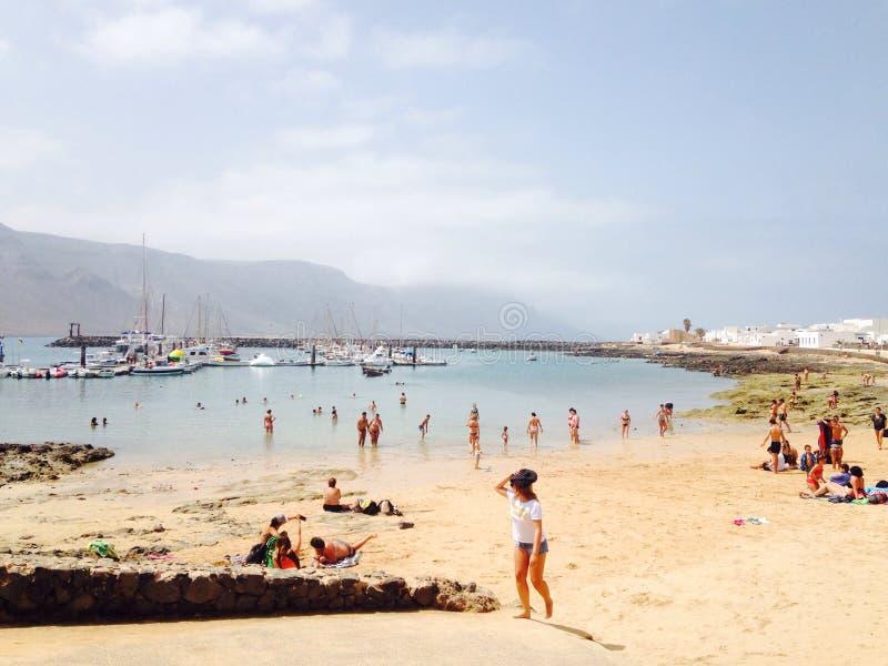 graciosa port beach stock image