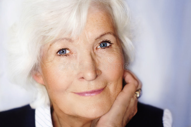 gracious portrait senior woman στοκ εικόνες
