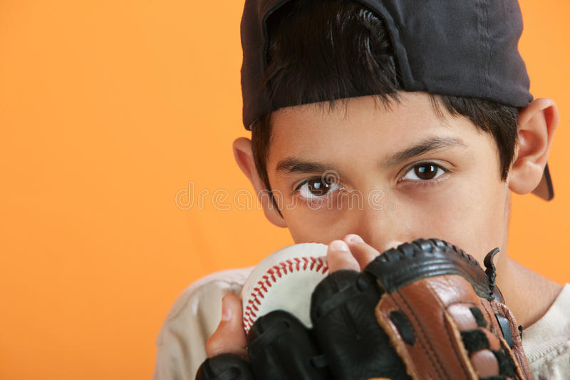 graczów baseballi potomstwa fotografia royalty free