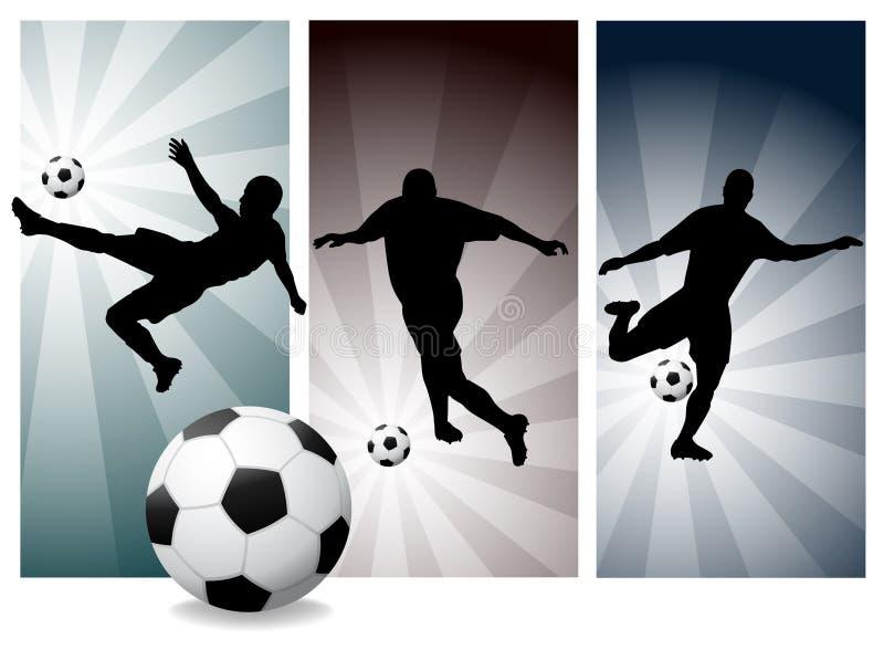 graczów piłki nożnej wektor royalty ilustracja