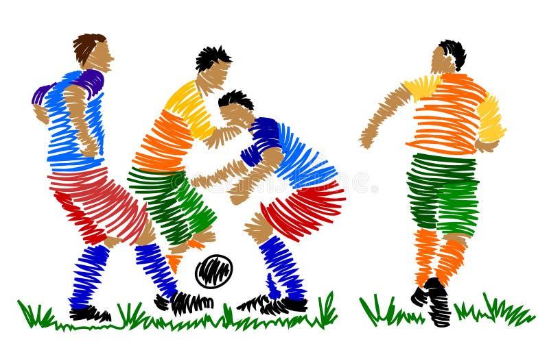 Download Gracz Abstrakcjonistyczna Piłka Nożna Ilustracji - Ilustracja złożonej z drużyna, tło: 13336278