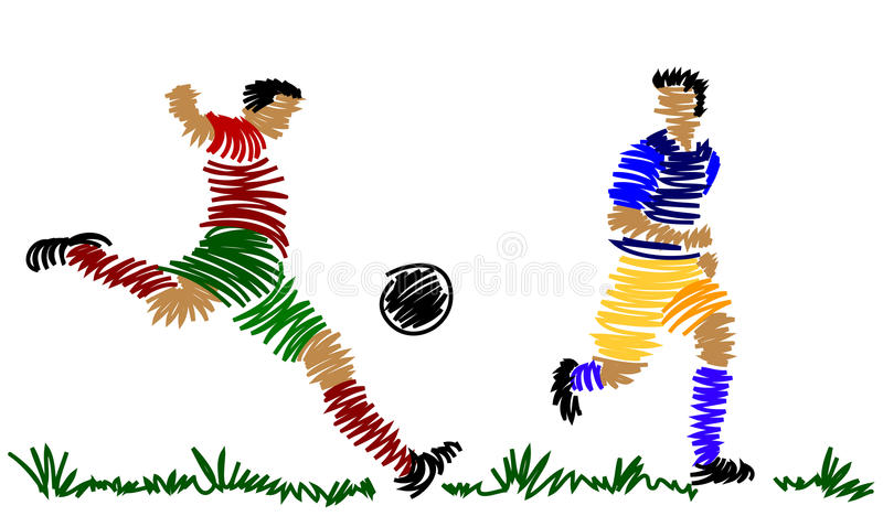 Download Gracz Abstrakcjonistyczna Piłka Nożna Ilustracja Wektor - Ilustracja złożonej z obraz, ilustracje: 13336280