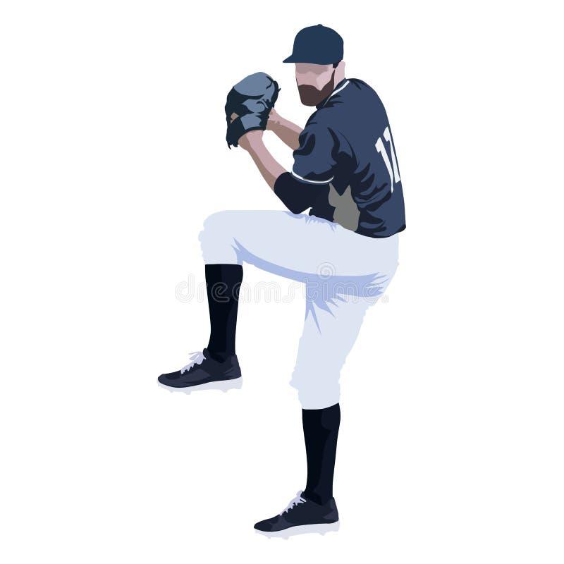 Gracz baseballa, abstrakcjonistyczna wektorowa ilustracja ilustracji