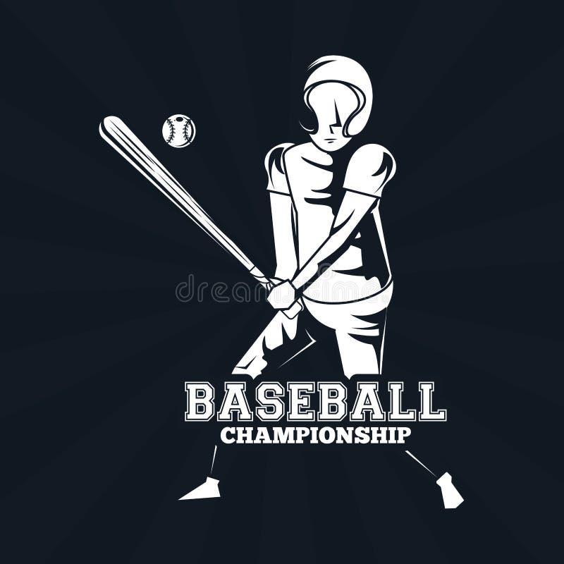 Gracz baseballa ikona ilustracji