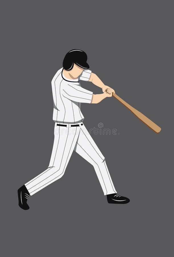 Gracz Baseballa postać obrazy stock