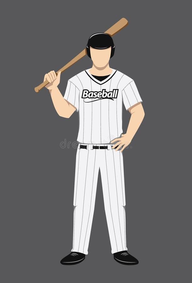 Gracz Baseballa postać zdjęcia stock