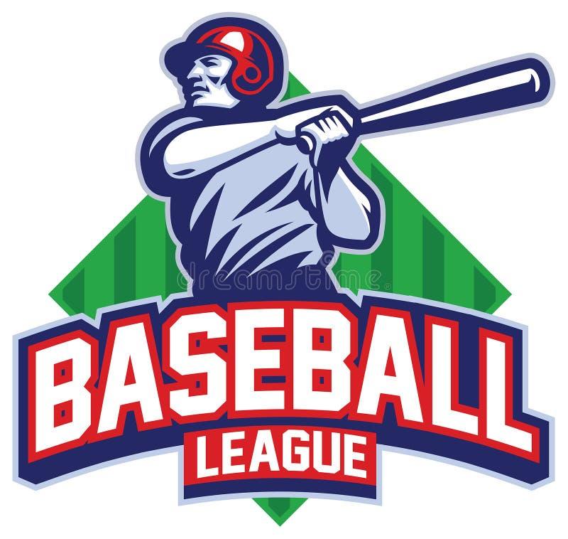 Gracz Baseballa uderza piłkę ilustracji
