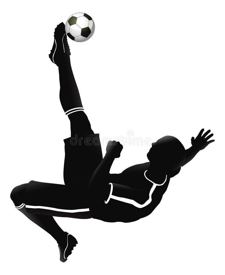 gracz futbolowa ilustracyjna piłka nożna ilustracja wektor