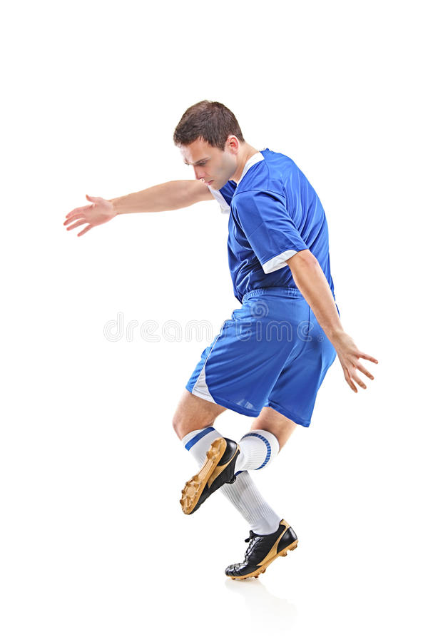 Download Gracz futbolu obraz stock. Obraz złożonej z wyposażenie - 13334149