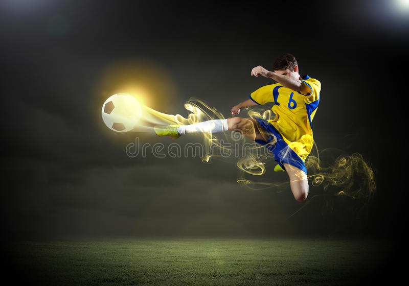 Gracz futbolu fotografia royalty free