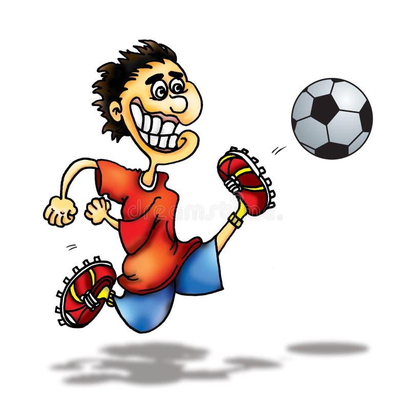 gracz futbolu ilustracja wektor