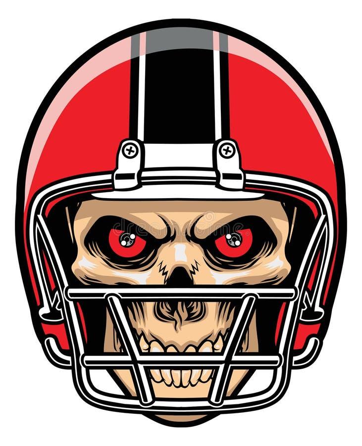 Gracz futbolu czaszka ilustracja wektor