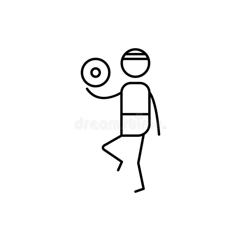 gracz futbolu ikona Element ludzka hobby ikona dla mobilnych pojęcia i sieci apps Cienka kreskowa gracz futbolu ikona może być uż royalty ilustracja