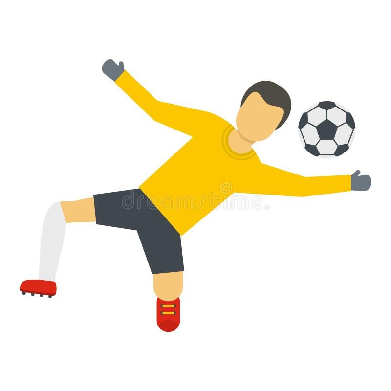 Gracz futbolu ikona, mieszkanie styl ilustracja wektor