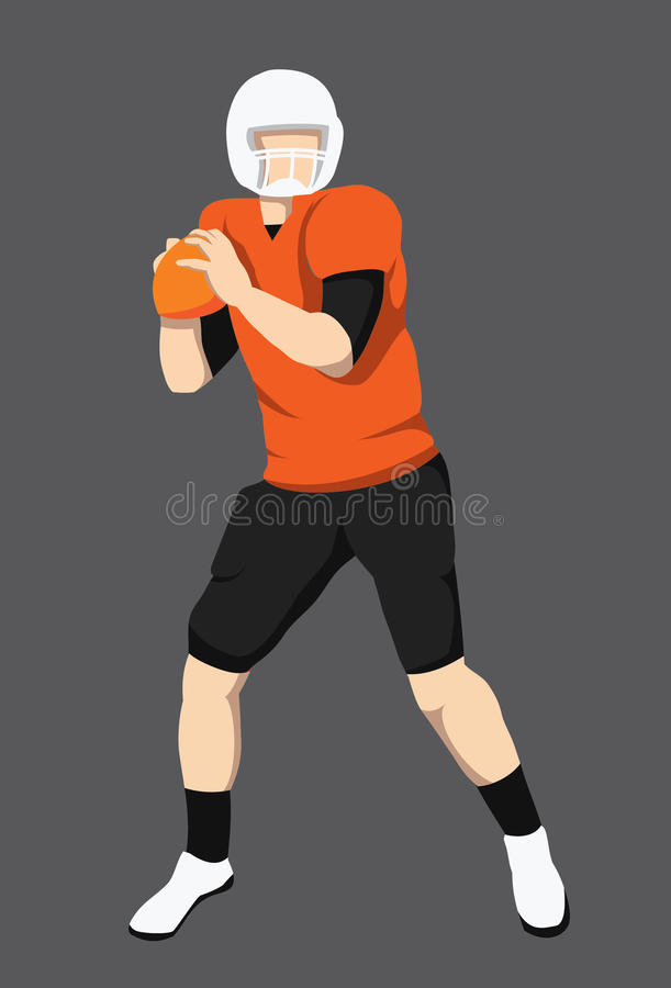 Gracz Futbolu postać zdjęcie stock