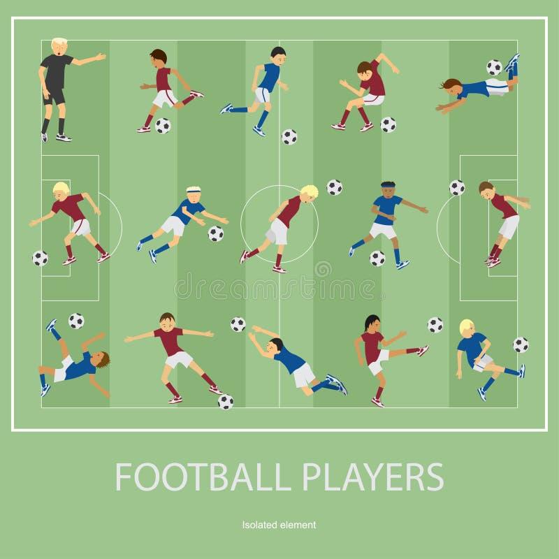 gracz futbolu ustawiający royalty ilustracja