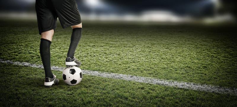 Gracz futbolu w stadium obrazy stock