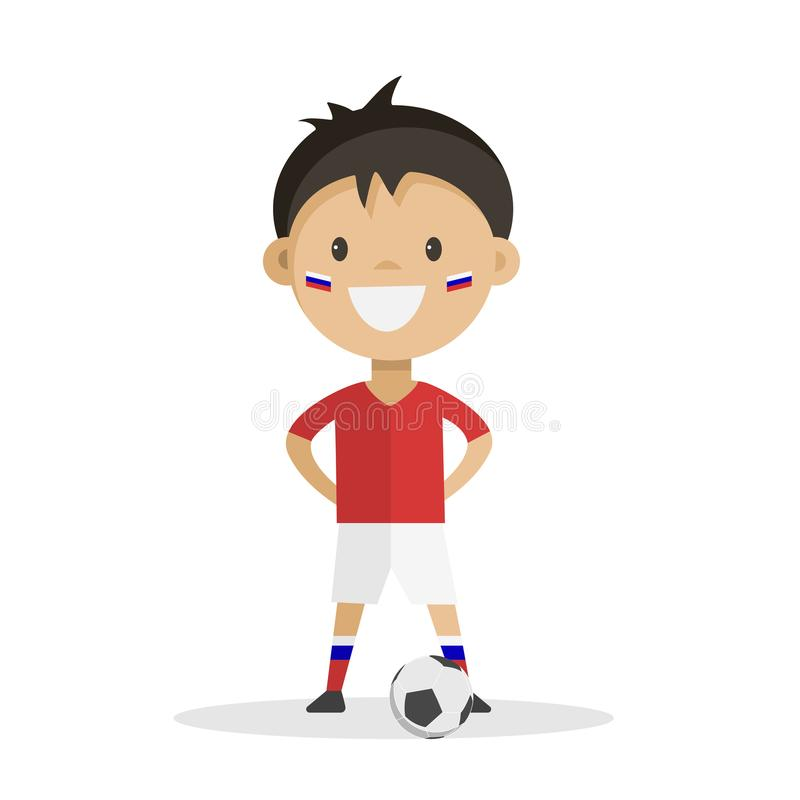 gracz futbolu z piłką na białym tle fotografia royalty free