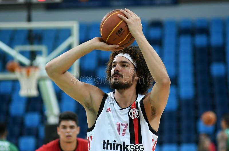 Gracz koszykówki Anderson Varejão zdjęcia royalty free