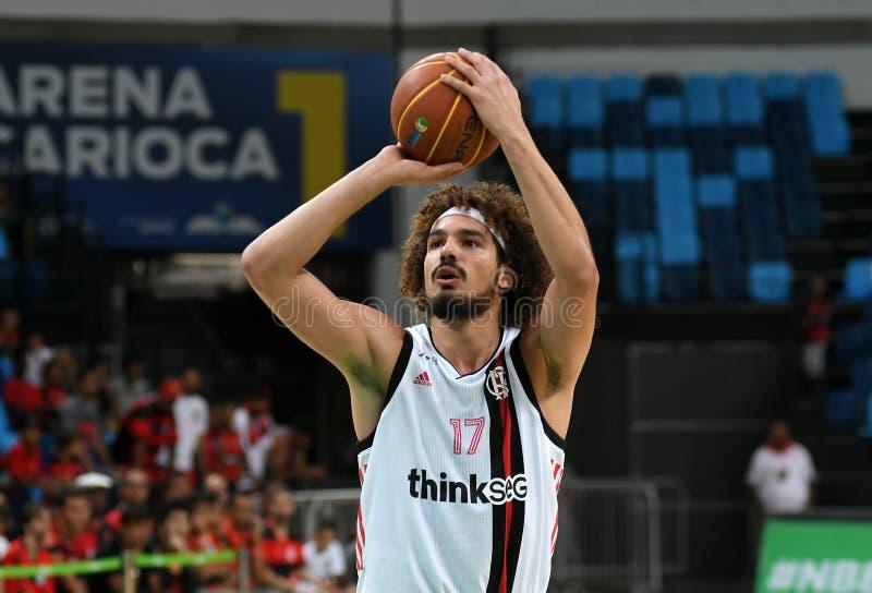 Gracz koszykówki Anderson Varejão fotografia royalty free