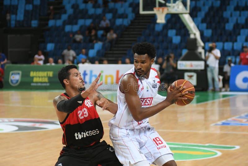 Gracz koszykówki Leandrinho zdjęcie stock