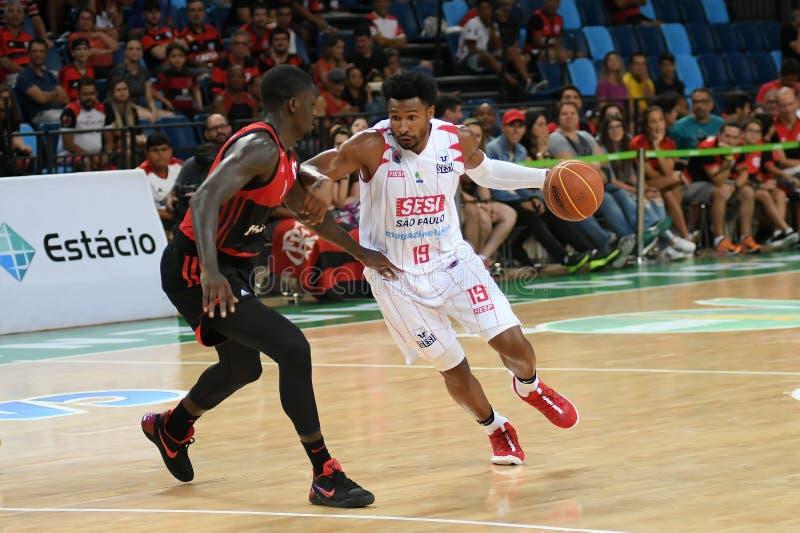 Gracz koszykówki Leandrinho fotografia royalty free