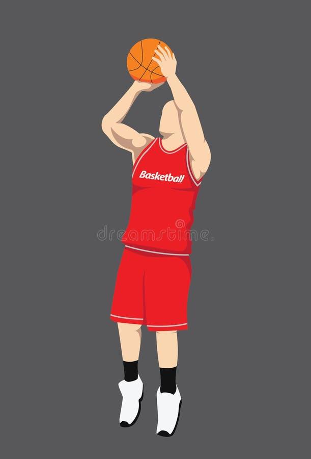Gracz Koszykówki postać fotografia stock