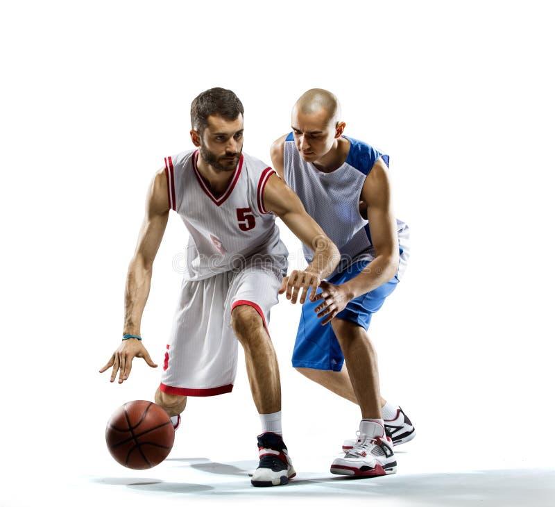 Gracz koszykówki w akci fotografia stock