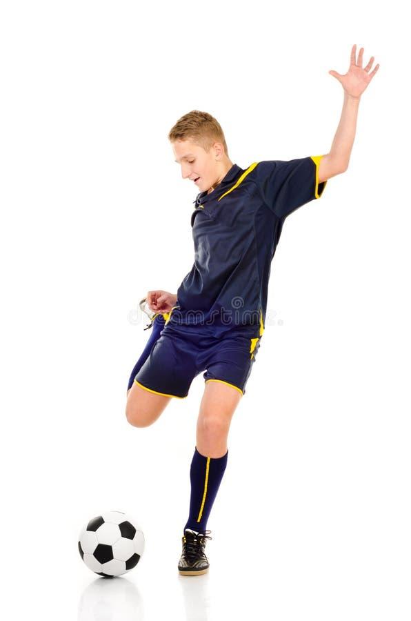 Gracz piłki nożnej fotografia royalty free