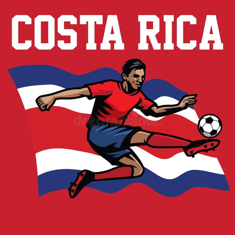 Gracz piłki nożnej costa rica royalty ilustracja
