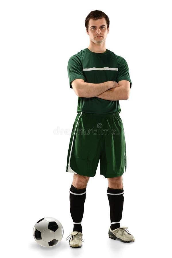 Gracz Piłki Nożnej pozycja obrazy stock
