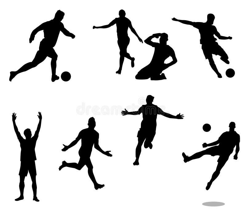 Gracz piłki nożnej - 3 obrazy royalty free