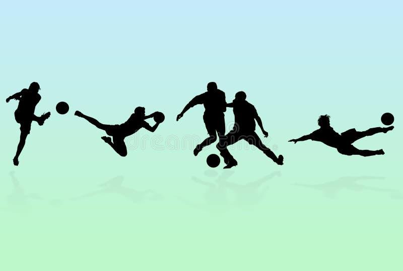 Gracz Piłki Nożnej Sylwetki royalty ilustracja