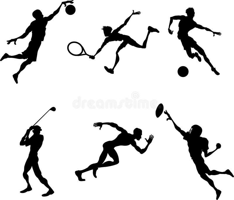 gracz sylwetek sporty. ilustracji