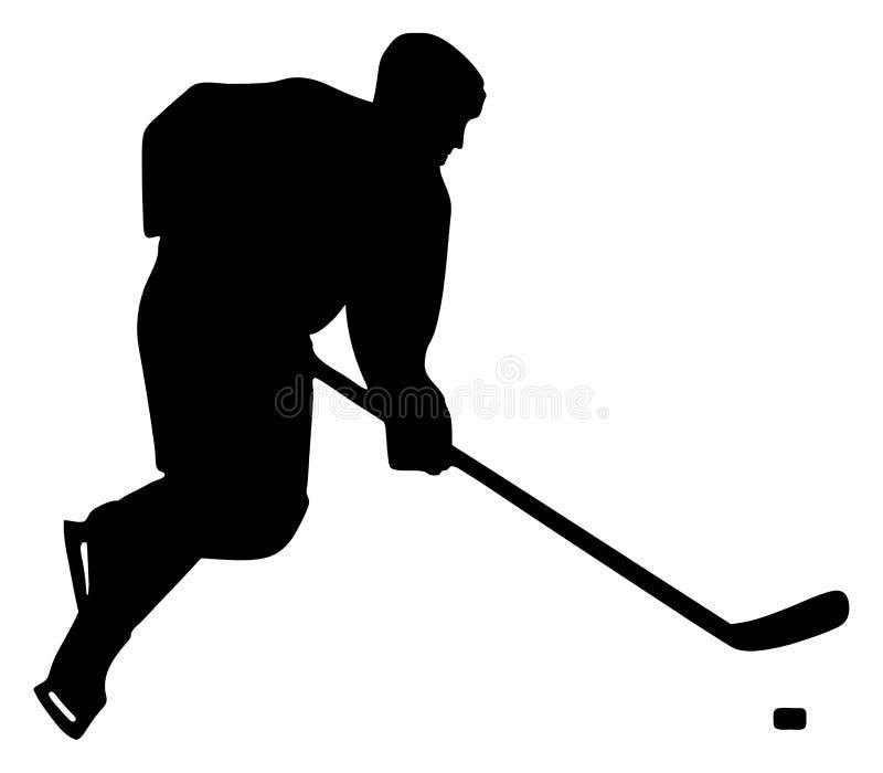 Gracz w hokeja royalty ilustracja