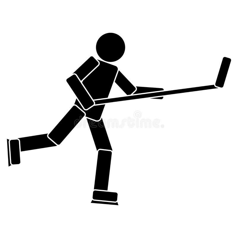 Gracz W Hokeja piktogram ilustracji