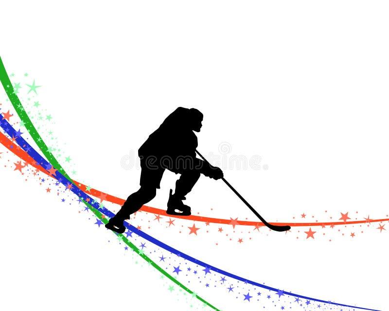 Gracz w hokeja sylwetka ilustracji