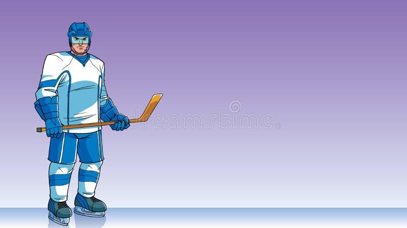 Gracz W Hokeja tło ilustracji