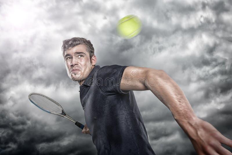 Gracz w tenisa fotografia royalty free
