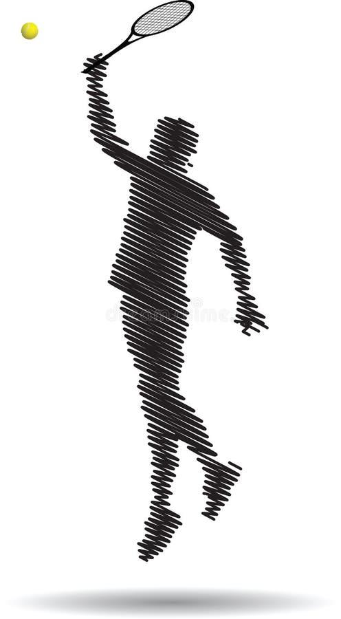 Gracz w tenisa ilustracja wektor