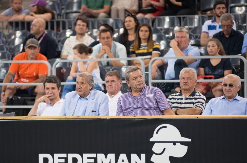 Gracz w tenisa legenda Ilie Nastase obrazy stock