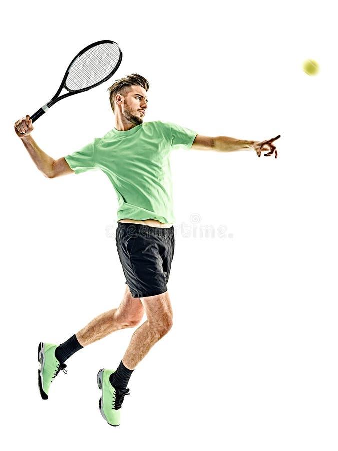 Gracz w tenisa mężczyzna odizolowywający fotografia royalty free