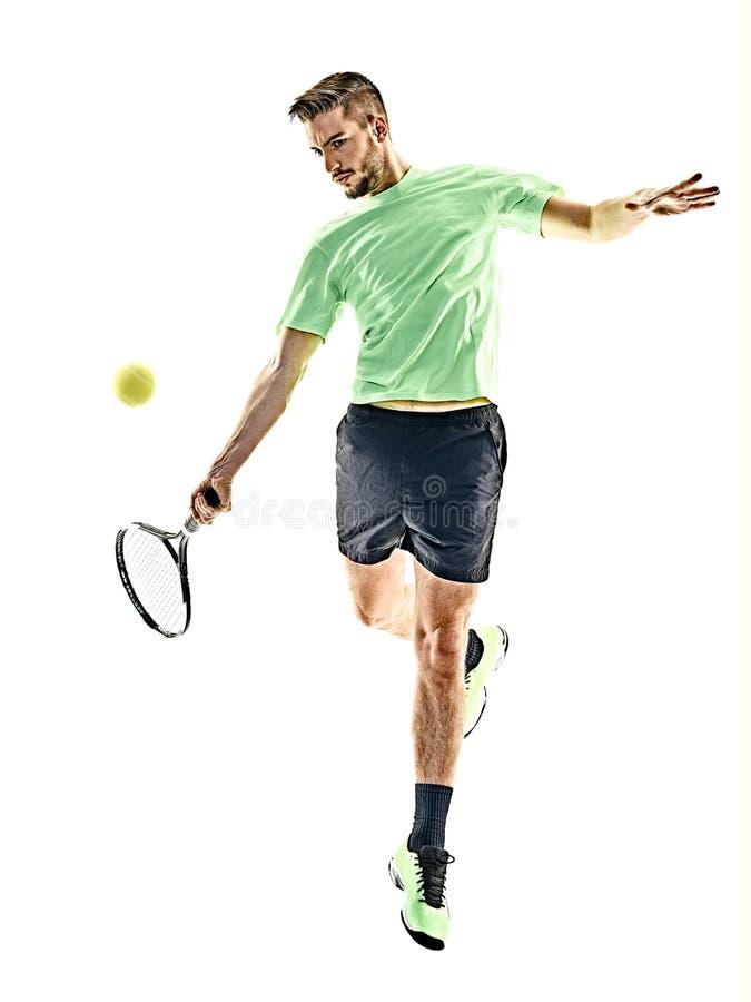 Gracz w tenisa mężczyzna odizolowywający obrazy stock