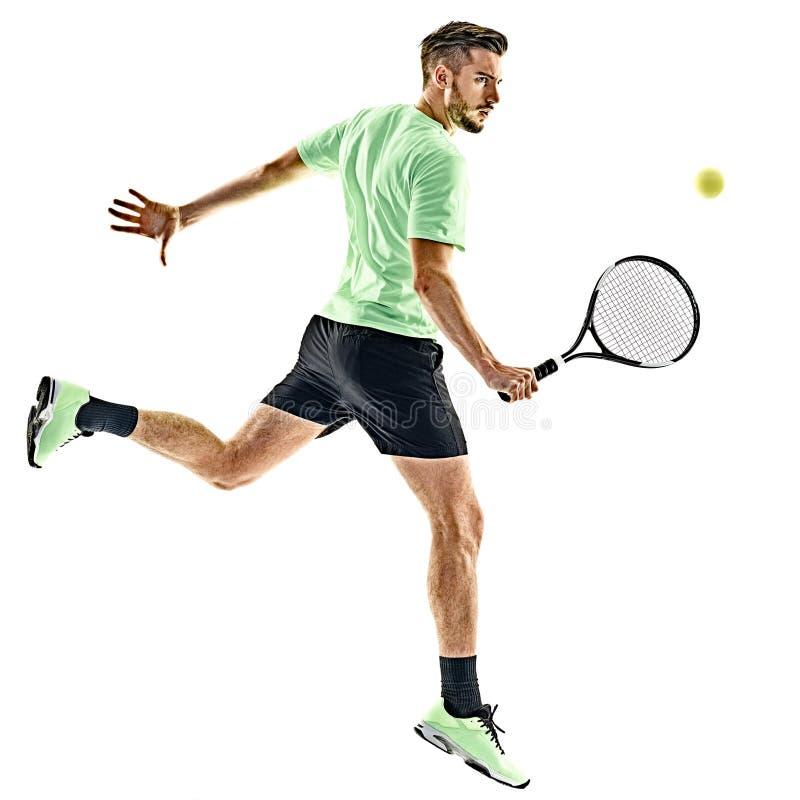 Gracz w tenisa mężczyzna odizolowywający fotografia stock